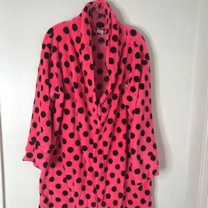 Victoria Secret Pink/Black Polka Dot Robe by Pink